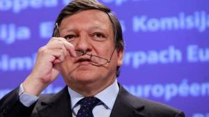 European Commission President Jose Manuel Barroso gives a news conference