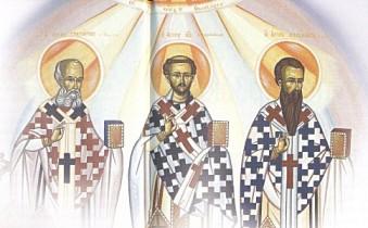 Αποτέλεσμα εικόνας για τρεις ιεραρχες μήνυμα