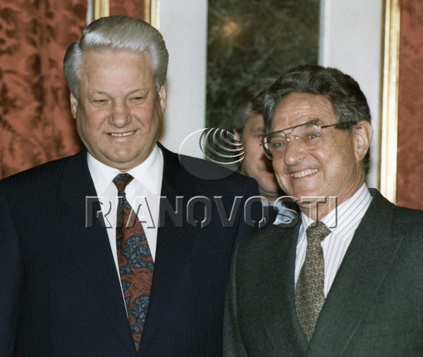 Boris Yeltsin and George Soros