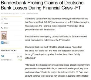 deutche bank financial times
