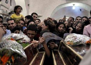 κηδεία από τα θύματα των κοπτών στο Σινά