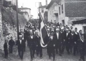 Πομάκοι με ελληνική σημαία το 1878
