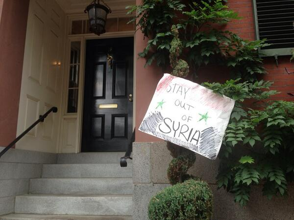 η είσοδος της κατοικίας Κέρρυ