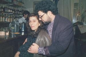 Καίτη Χωματά - Δημήτρης Κραουνάκης το 1988.
