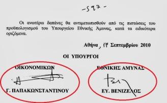 """...ΓΙΑ ΝΑ ΚΑΛΥΨΟΥΝ ΒΕΒΑΙΑ ΤΟΥΣ ΝΤΟΠΙΟΥΣ ΠΡΑΣΙΝΟΥΣ ΜΙΖΑΔΟΡΟΥΣ... Ο Βενιζέλος ως υπουργός Εθνικής Άμυνας,με υφυπουργό τον Μπεγλίτη και ενώ υπουργός Οικονομικών ήταν ο Παπακωνσταντίνου,πέρασε την """"Συμφωνία Παραίτησης"""" του 3885/2010 (ΦΕΚ 171). Σύμφωνα με το συγκεκριμένο κεφάλαιο,στην συμφωνία για την πώληση των Ναυπηγείων Σκαραμαγκά στην Abu Dhabi Mar,η ελληνική κυβέρνηση δηλώνει παραίτηση απο οποιοδήποτε δικαίωμα για αποζημιωση σχετικά με"""