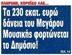 ΜΕΓΑΡΟ ΜΟΥΣΙΚΗΣ ΔΑΝΕΙΑ