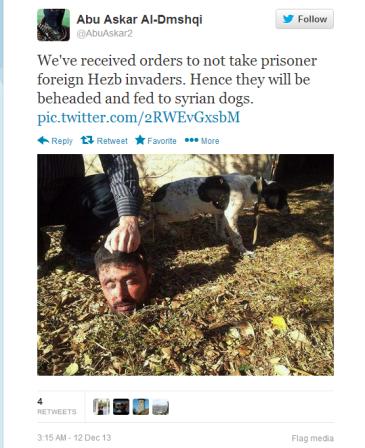 Tweeter το ανθρώπινο κεφάλι στα πεινασμένα σκυλιά
