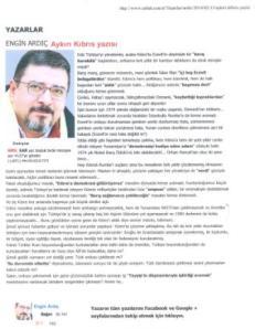 Το τουρκικό άρθρο