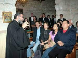 Το ζεύγος Άσσαντ και ο Τσάβεζ στην ελληνορθόδοξη μονή Αγίας Θέκλας το 2010