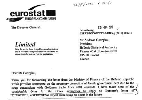 eurostat letter