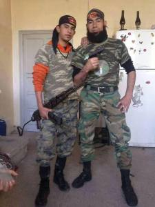 ISLAMIST EXTREMISTS WITH TURKISH BANDEROLES
