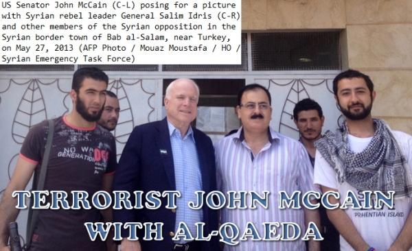 Ο McCaine με τους ισλαμοφασίστες στην Συρία