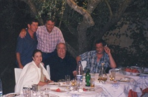 10.Τζένη Ρουσσέα, Διονύσης Φλεμοτόμος, Κώστας Καποδίστριας, Γιώργος Κατσαρός, Δημήτρης Κραουνάκης στην Ζάκυνθο το 2004.