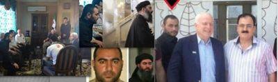 ο γερουσιαστής με τον πρώην επικεφαλή του ένοπλου σκέλους της συριακής αντιπολίτευσης Ιdris και τον άνθρωπο μυστήριο
