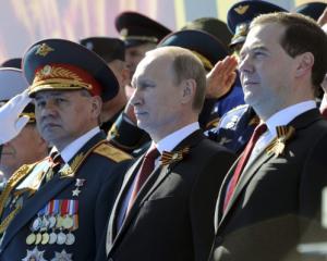 Πρόερδος και Πρωθυπουργός με το εθνόσημο του Αη Γιώργη σύμβολο της αντίστασης της Νέας Ρωσίας