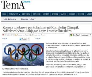 kosovo olympic games