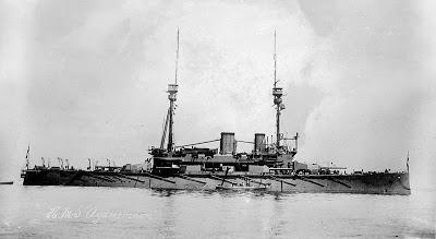 Το Αντιτορπιλικό HMS Agamemnon όπου υπογράφηκε η Συνθηκολόγηση