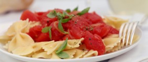 Pasta with basil and marinara