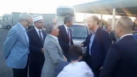 Σε τουρκικό έδαφος τον συνόδεψε ο τουρκομουφτής Μέτε