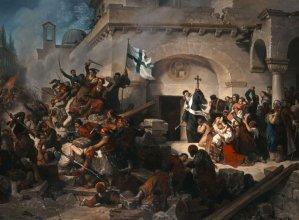 Μονή Αρκαδίουη Ελαιογραφία του ιταλού ζωγράφου Γκαττέρι