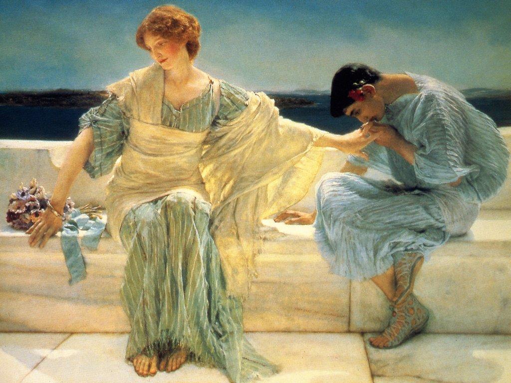 Lourens Alma Tadema, 8 Ιανουαρίου 1836 – 25 Ιουνίου 1912), Μέλος του Τάγματος της Αξίας, Μέλος της Βασιλικής Ακαδημίας, Ολλανδός ζωγράφος