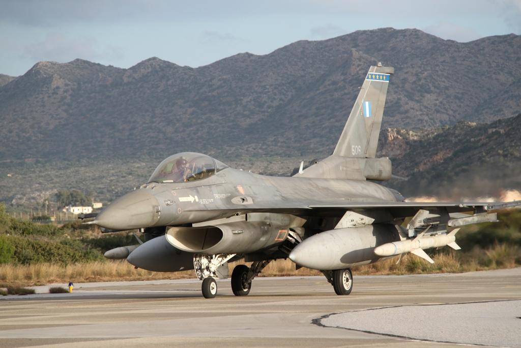 343Μοίρας της 115 Πτέρυγας ΜάχηςΑεροπορική Βάση Σούδας, αποτελούμενο από τέσσερα (4) αεροσκάφη F-16 Block 52+ και ανάλογο προσωπικό, αναχώρησε για την Αεροπορική Βάση Los Llanos, στο Albacete της Ισπανίας