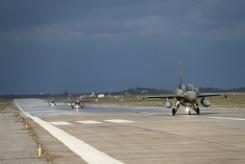 343Μοίρας της 115 Πτέρυγας ΜάχηςΑεροπορική Βάση Σούδας, αποτελούμενο από τέσσερα (5) αεροσκάφη F-16 Block 52+ και ανάλογο προσωπικό, αναχώρησε για την Αεροπορική Βάση Los Llanos, στο Albacete της Ισπανίας