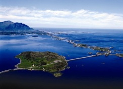 The Atlantic Road-spectacular road in Norway