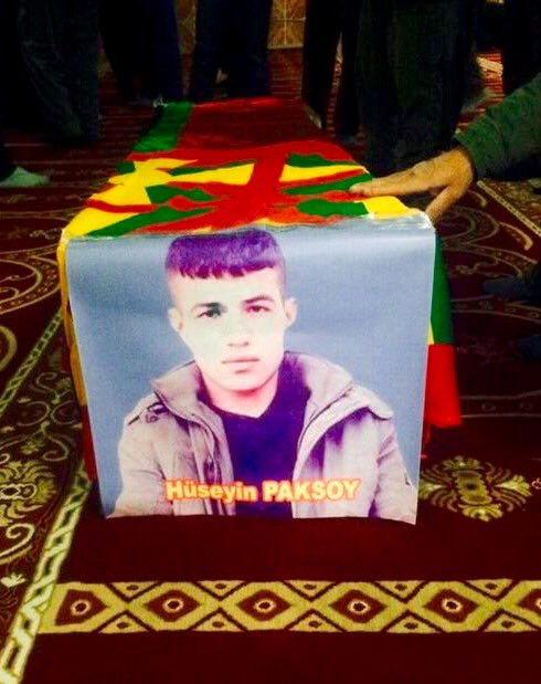 This 16 year old boy Huseyin Paksoy died of blood lose due to no ambulance allowed in #Cizre. World just watched it!