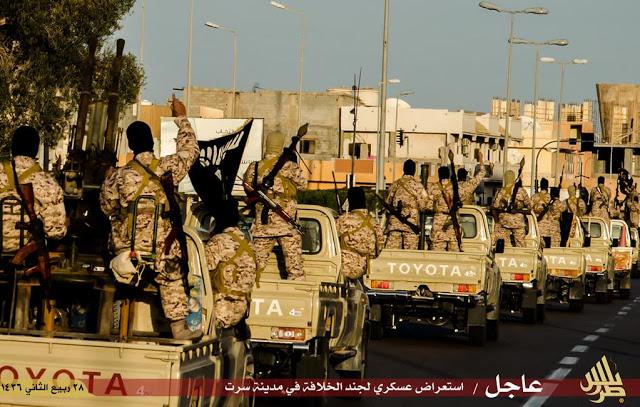 isis-libya-convoys-pass-through-streets-libya-its-fighters-aim-their-guns-sky-defiance-air