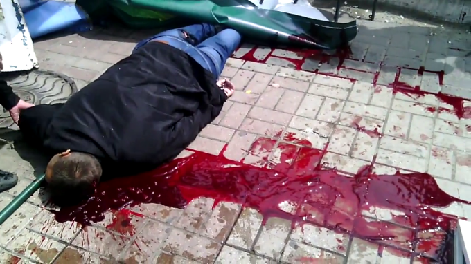 MASSACRE IN MARIUPOL UP TO 100 PEOPLE SHOT DEAD ON DAY OF VICTORY OVER FASCISM