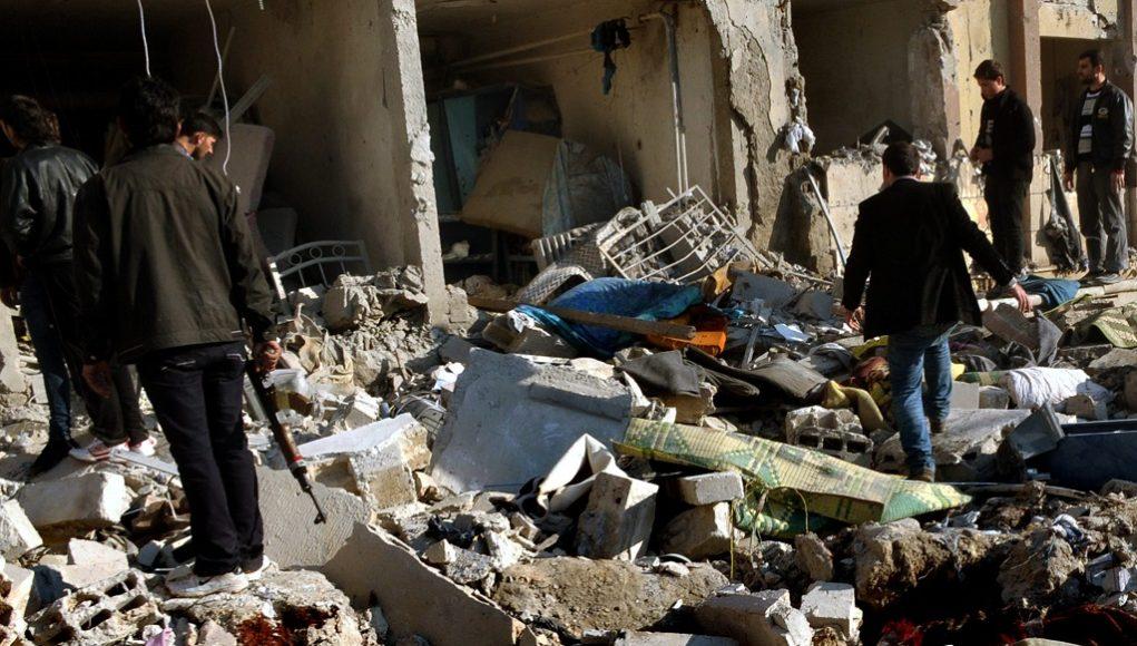 Bombing in Aleppo University