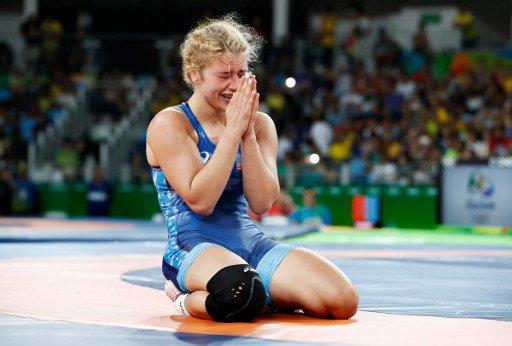 Η Ελληνοαμερικανίδα Έλεν Λουίζ Μαρούλις κατέκτησε το χρυσό μετάλλιο πάλης γυναικών στο Ρίο  #Olympics #Rio2016 #GRE