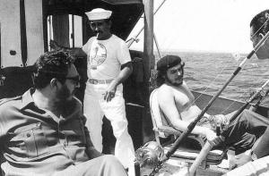 Che Guevara and Fidel Castro on a fishing trip, 1960. Photograph by Alberto Korda.