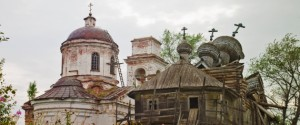 Two destroyed orthodox churches