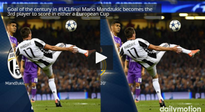 ΤΟ ΓΚΟΛ ΤΟΥ ΑΙΩΝΑ με Ψαλιδάκι στο Champions League από τον Mario Mandzukic