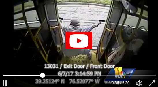 Shocking video U.S. jihadi in Baltimore goes down in shootout with police, all guns blazing in a public bus.