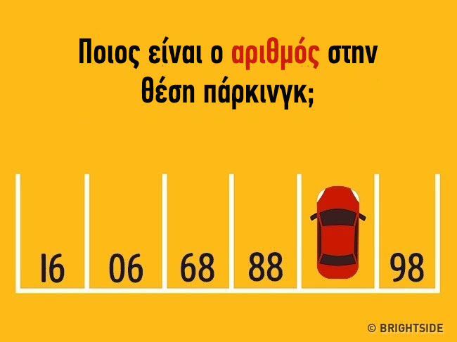 Καλοκαιρινή Σπαζοκεφαλιά Μπορείς να βρεις τον αριθμό της θέσης που πάρκαρε το αυτοκίνητο;