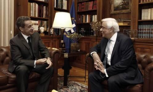 Συνάντηση του Προκόπη Παυλόπουλου με τον Νικολά Σαρκοζί