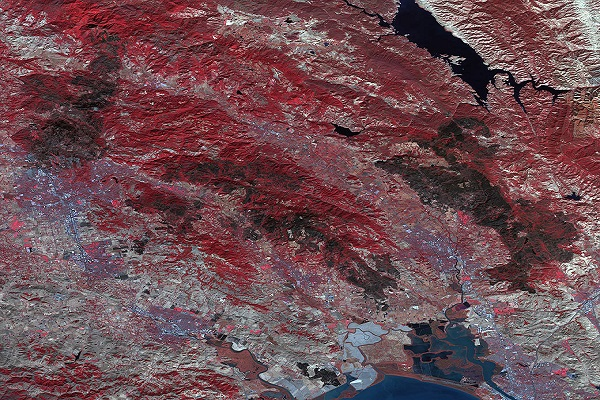 nasa image california fires