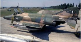 Hellenic Air Force F-4E Phantom II General Electric J-79 turbojet engines with afterburners (12)
