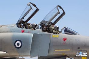 Hellenic Air Force F-4E Phantom II General Electric J-79 turbojet engines with afterburners (16)