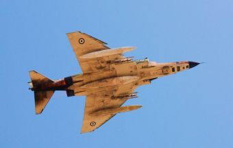 Hellenic Air Force F-4E Phantom II General Electric J-79 turbojet engines with afterburners (19)