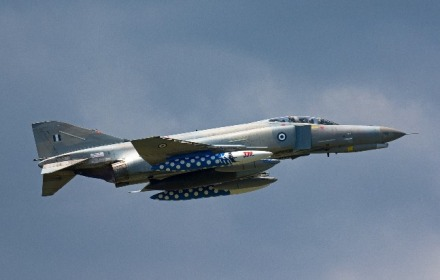 Hellenic Air Force F-4E Phantom II General Electric J-79 turbojet engines with afterburners (2)