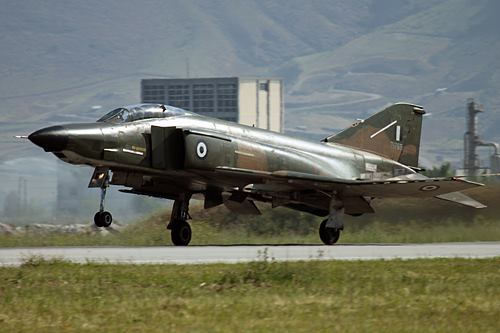 Hellenic Air Force F-4E Phantom II General Electric J-79 turbojet engines with afterburners (3)