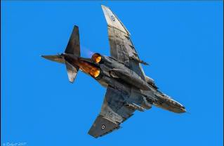 Hellenic Air Force F-4E Phantom II General Electric J-79 turbojet engines with afterburners (7)