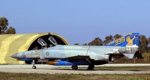 Hellenic Air Force F-4E Phantom II General Electric J-79 turbojet engines with afterburners (9)