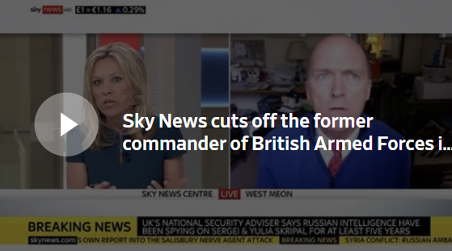General Jonathan Shaw censored by SKY NEWS