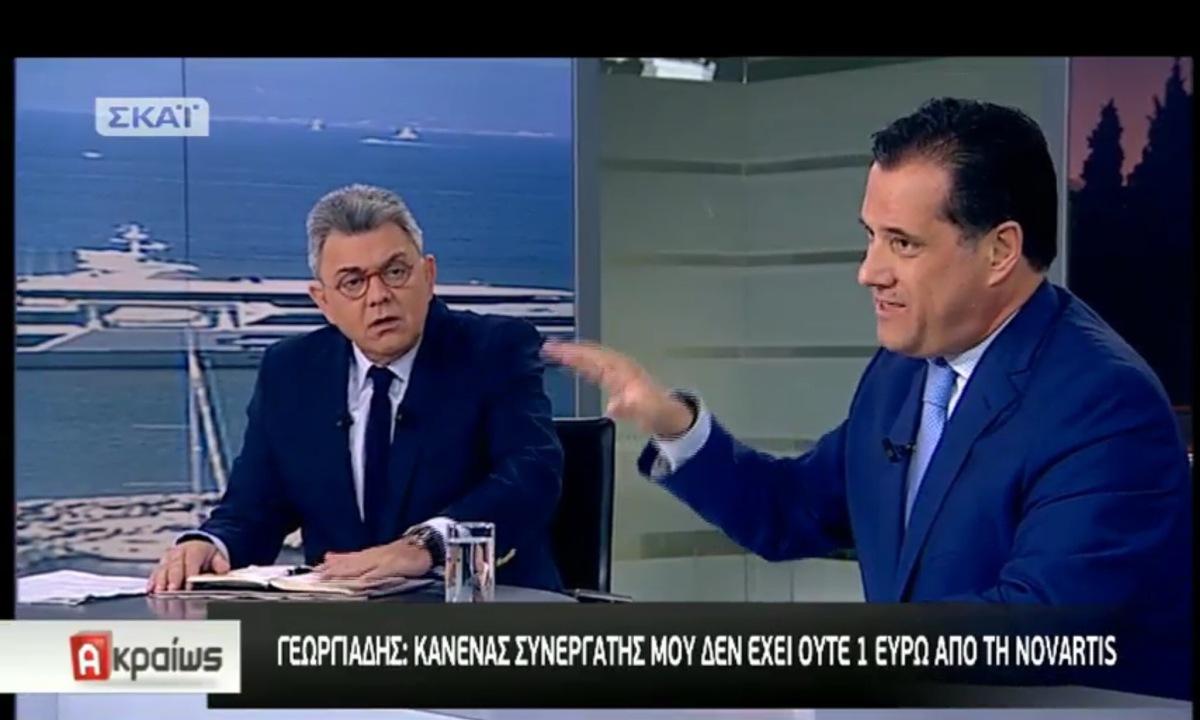 Τιναξε στον αέρα το πάνελ του Σκαι ο Γεωργιαδης!