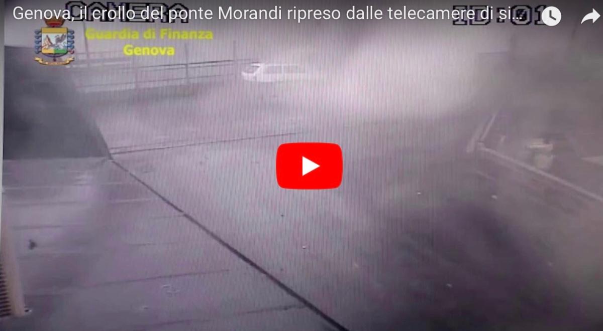 Νέο βίντεο - ντοκουμέντο από την κατάρρευση της γέφυρας στη Γένοβα.